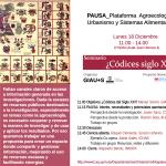 Seminario PAUSA ¿Códices del siglo XXI?: Conocimiento compartido